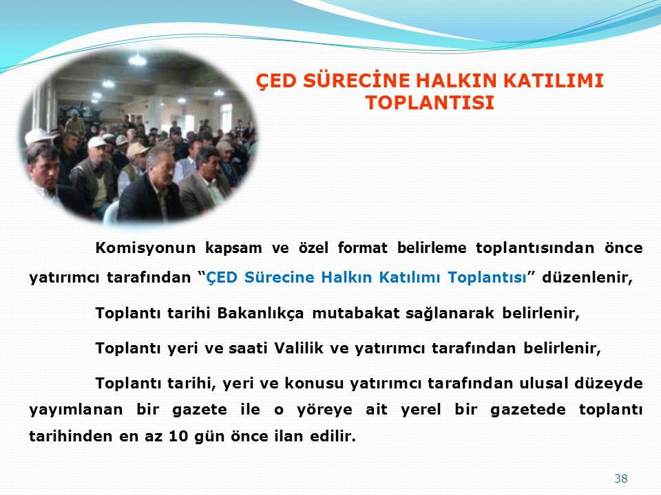 ÇED SÜRECİNE HALKIN KATILIMI TOPLANTISI