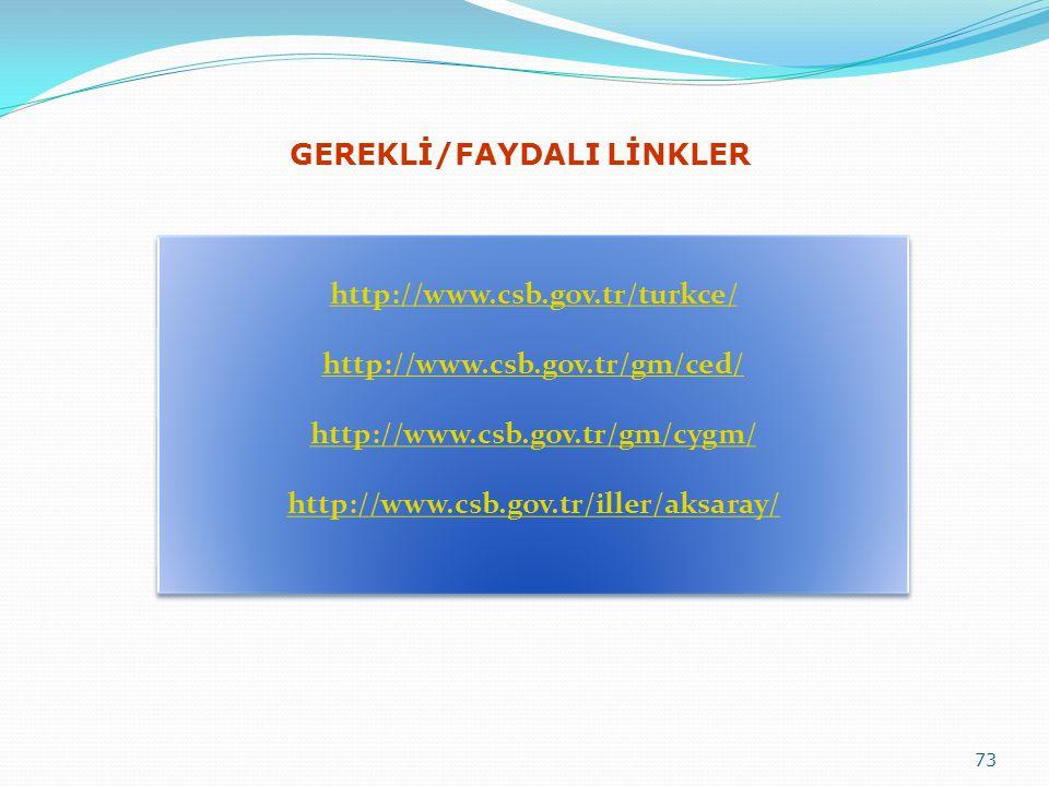 GEREKLİ/FAYDALI LİNKLER