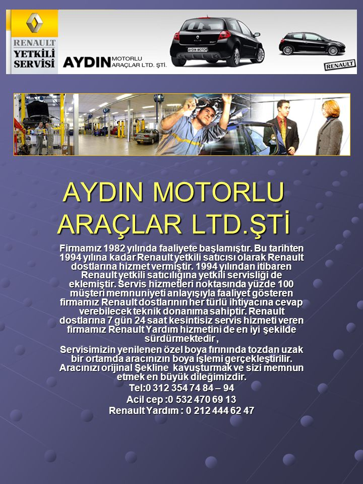 AYDIN MOTORLU ARAÇLAR LTD.ŞTİ