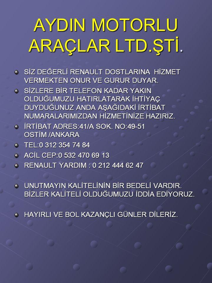 AYDIN MOTORLU ARAÇLAR LTD.ŞTİ.