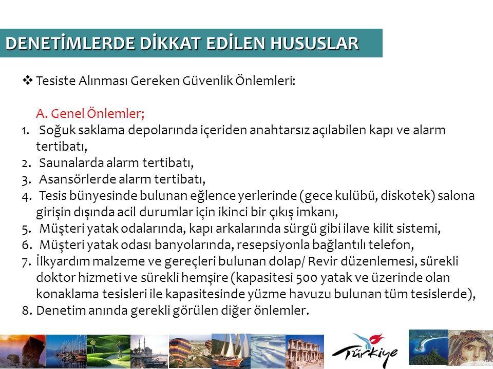 DENETİMLERDE DİKKAT EDİLEN HUSUSLAR