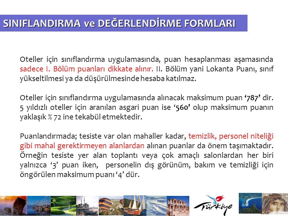 SINIFLANDIRMA ve DEĞERLENDİRME FORMLARI