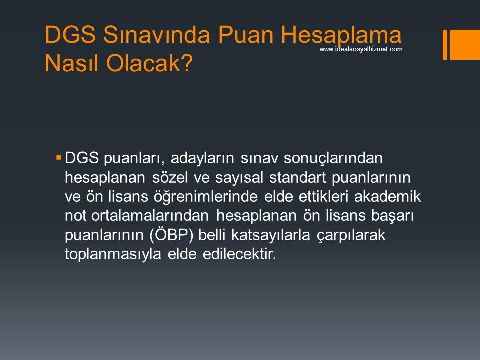 DGS Sınavında Puan Hesaplama Nasıl Olacak