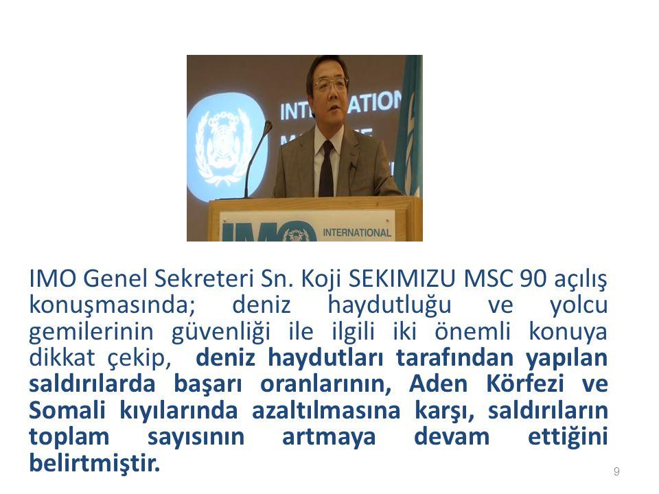 IMO Genel Sekreteri Sn.