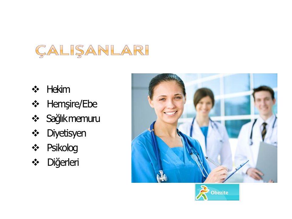 ODB Hekim Hemşire/Ebe Sağlık memuru Diyetisyen Psikolog Diğerleri