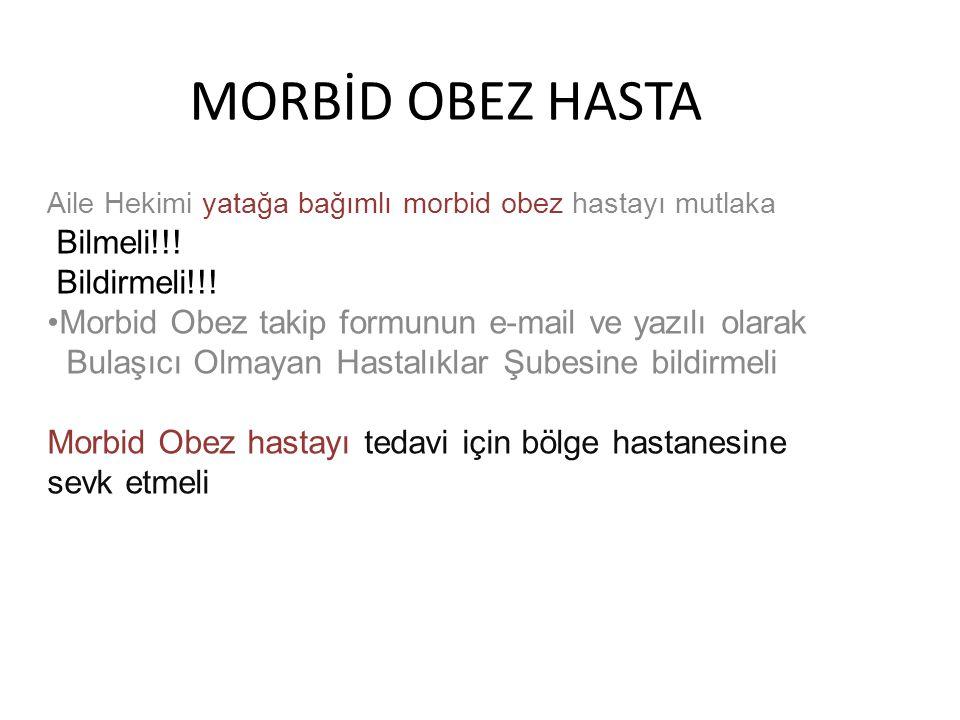 MORBİD OBEZ HASTA Bilmeli!!! Bildirmeli!!!