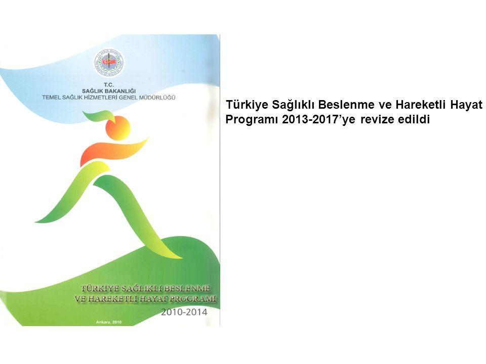 Türkiye Sağlıklı Beslenme ve Hareketli Hayat Programı 2013-2017'ye revize edildi