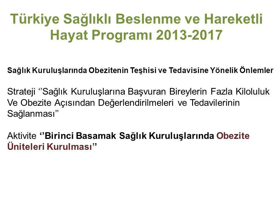 Türkiye Sağlıklı Beslenme ve Hareketli Hayat Programı 2013-2017