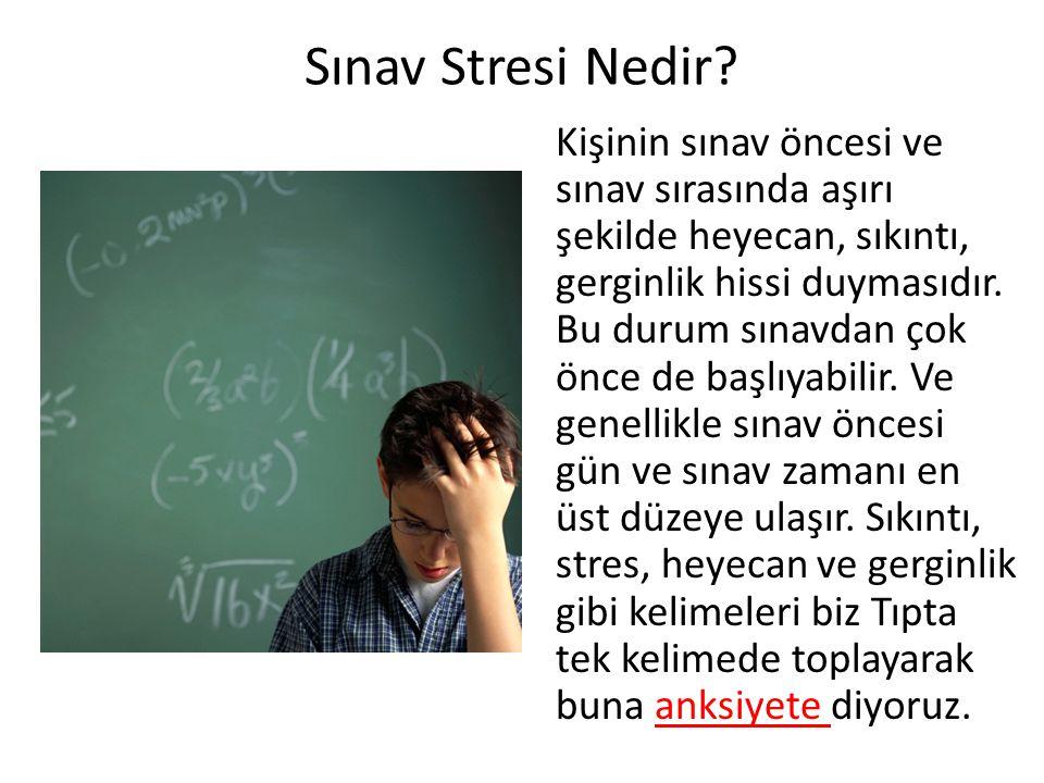 Sınav Stresi Nedir