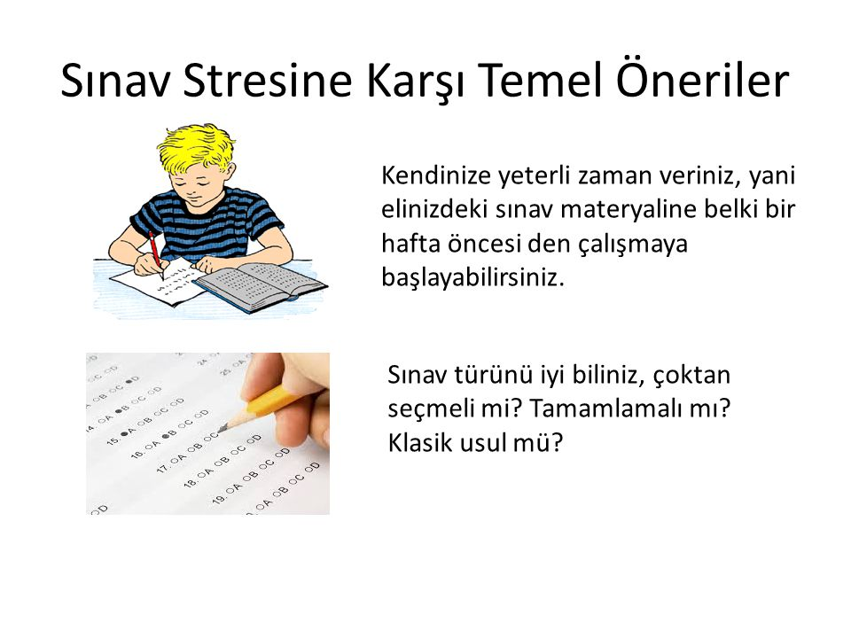 Sınav Stresine Karşı Temel Öneriler