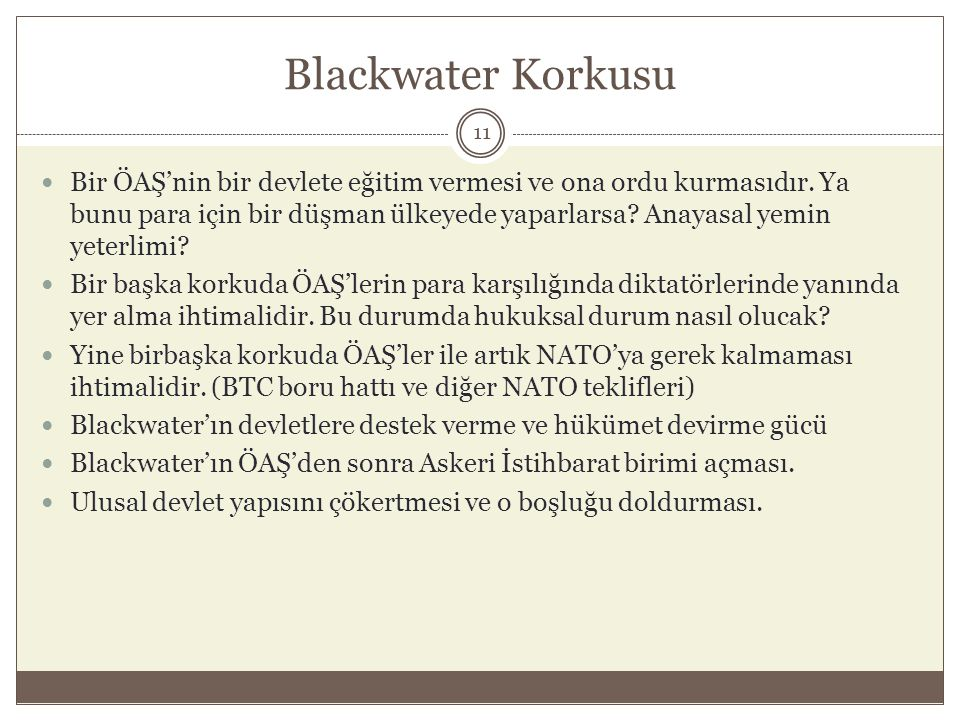 Blackwater Korkusu