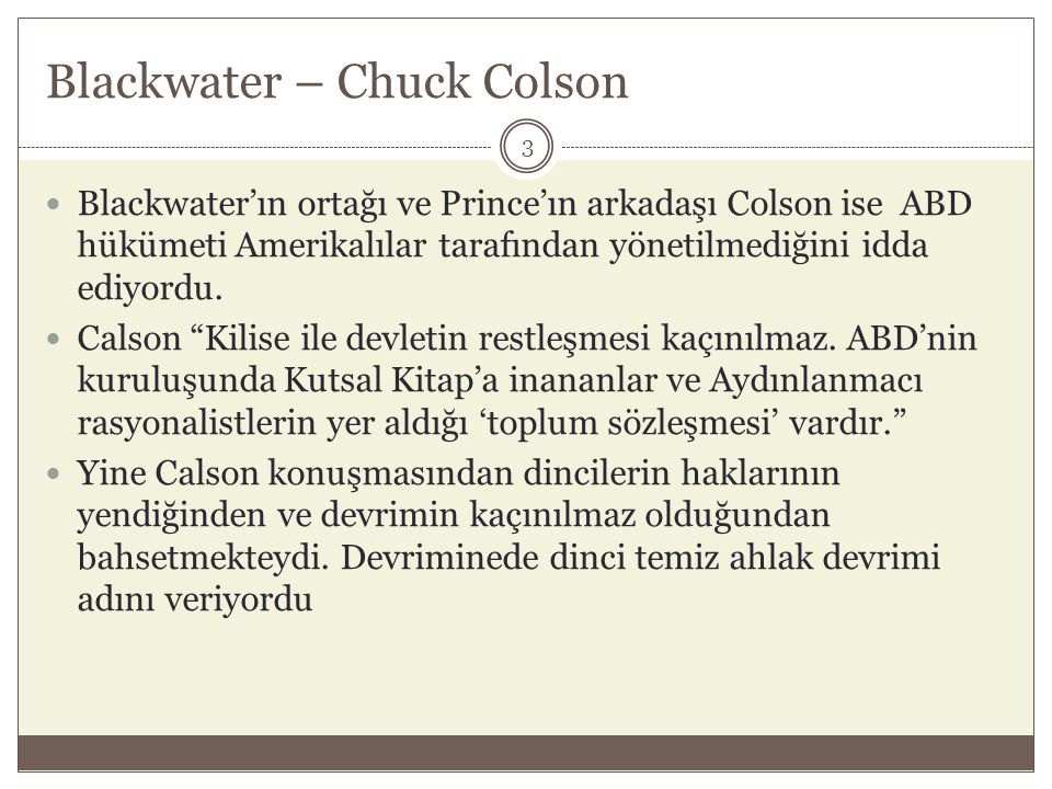 Blackwater – Chuck Colson