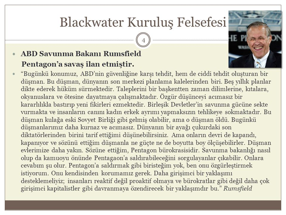 Blackwater Kuruluş Felsefesi