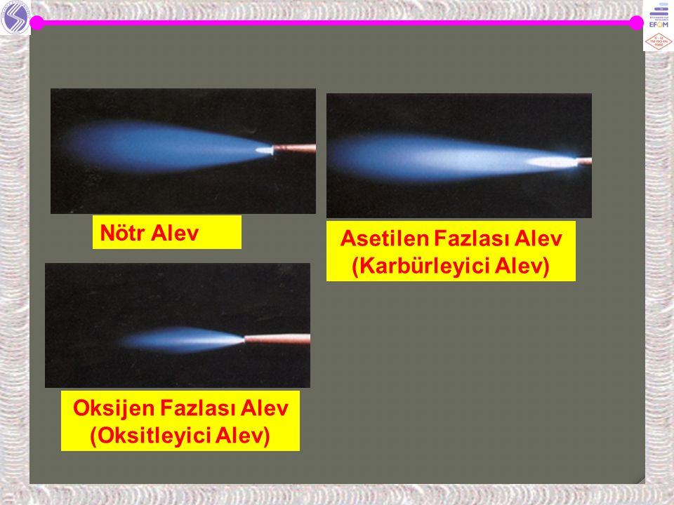 Asetilen Fazlası Alev (Karbürleyici Alev)