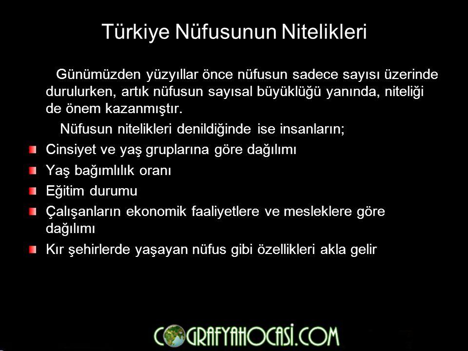 Türkiye Nüfusunun Nitelikleri