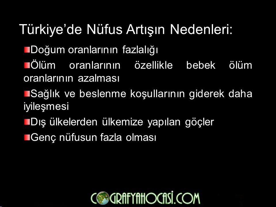 Türkiye'de Nüfus Artışın Nedenleri: