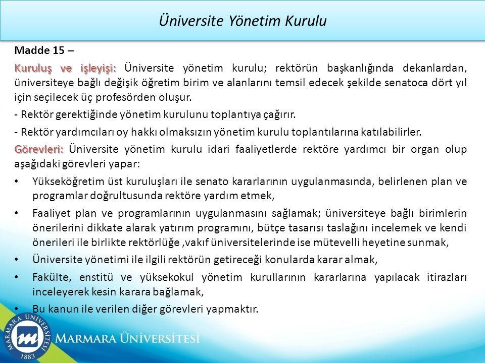 Üniversite Yönetim Kurulu