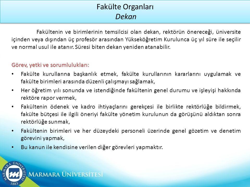 Fakülte Organları Dekan