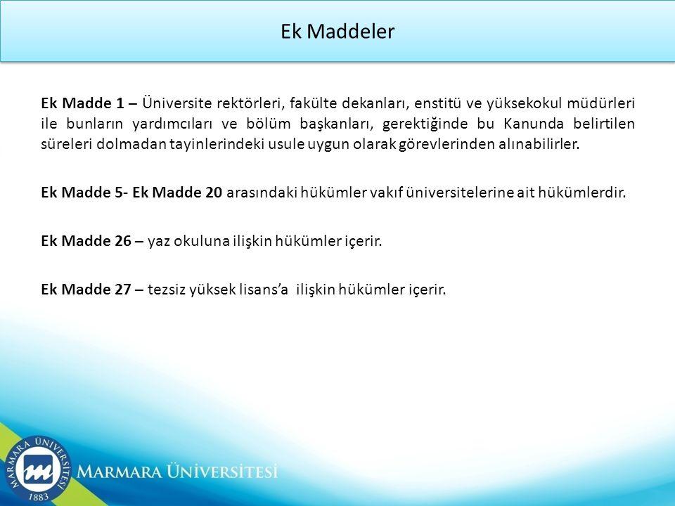 Ek Maddeler