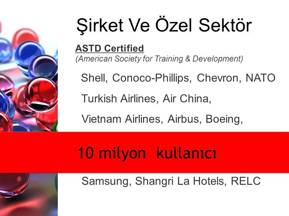 Şirket Ve Özel Sektör 10 milyon kullanıcı Turkish Airlines, Air China,