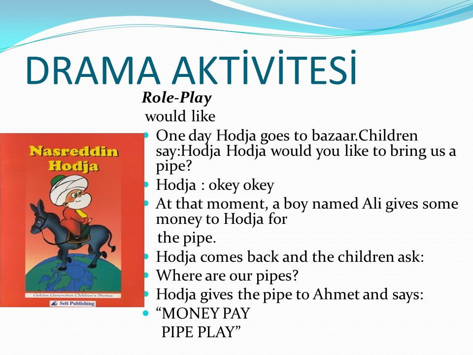 DRAMA AKTİVİTESİ Role-Play would like