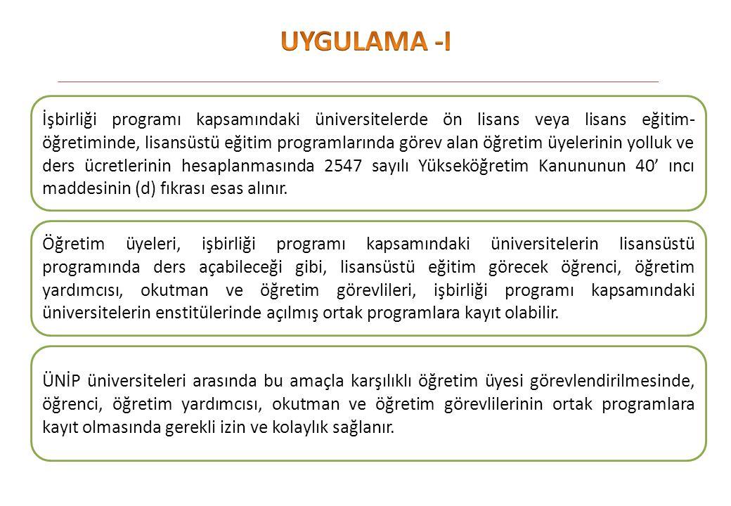 UYGULAMA -I