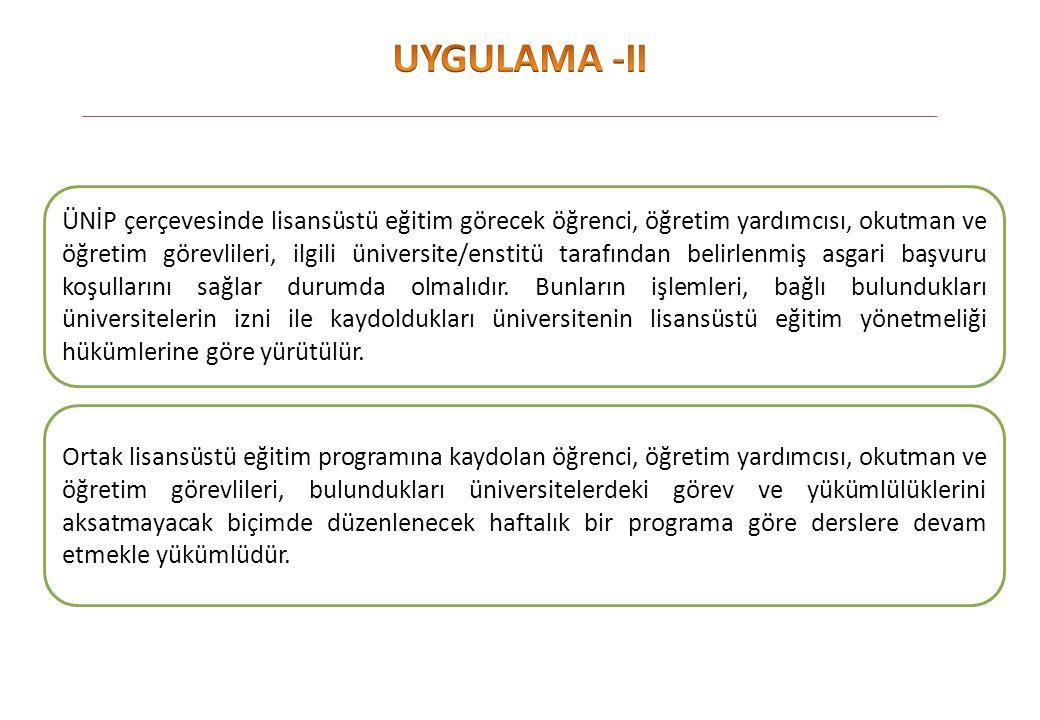 UYGULAMA -II