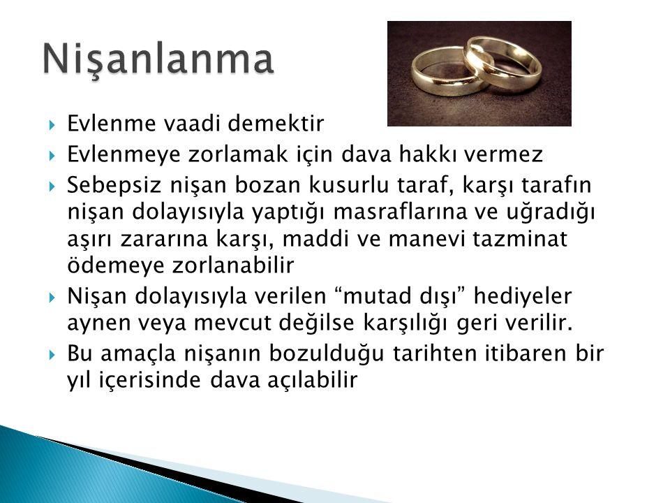Nişanlanma Evlenme vaadi demektir