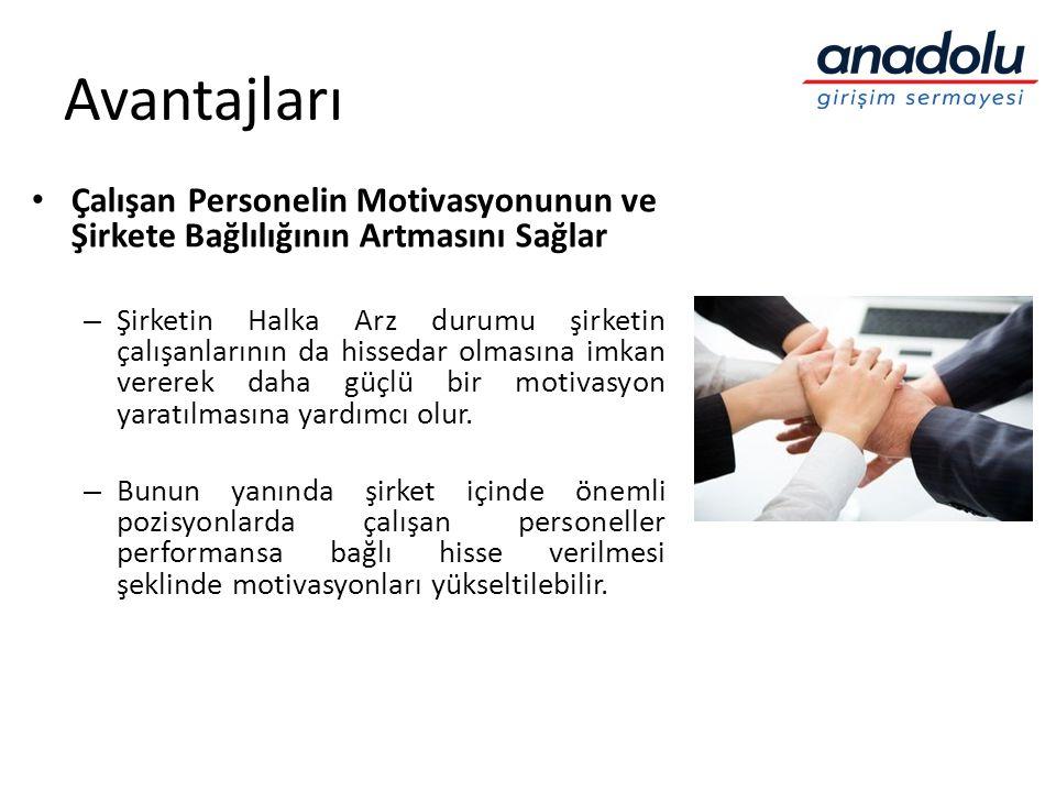 Avantajları Çalışan Personelin Motivasyonunun ve Şirkete Bağlılığının Artmasını Sağlar.