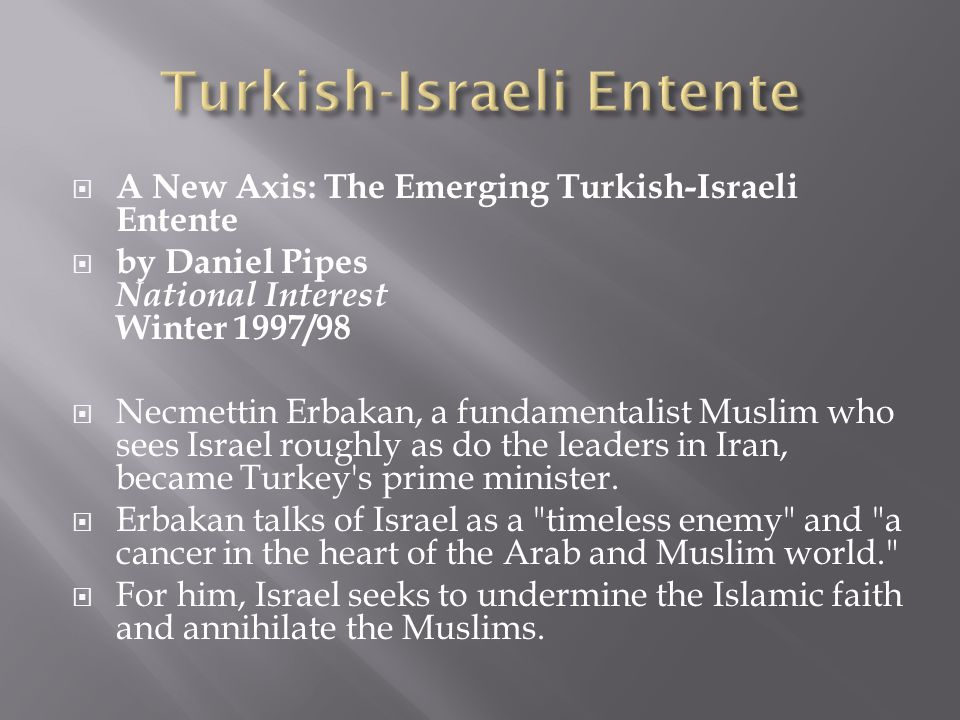 Turkish-Israeli Entente