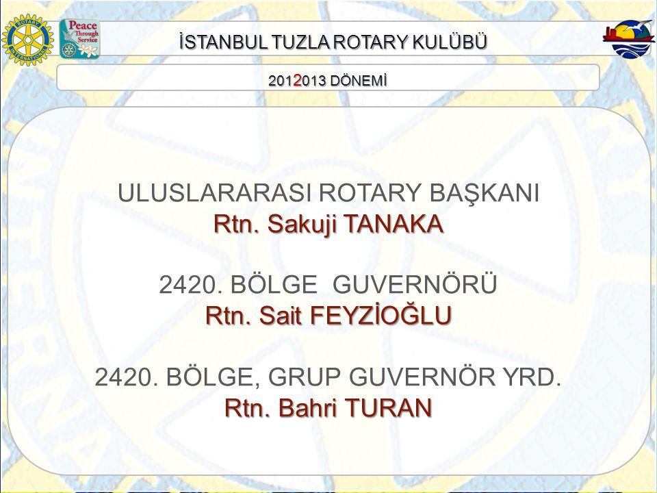 ULUSLARARASI ROTARY BAŞKANI Rtn. Sakuji TANAKA 2420. BÖLGE GUVERNÖRÜ