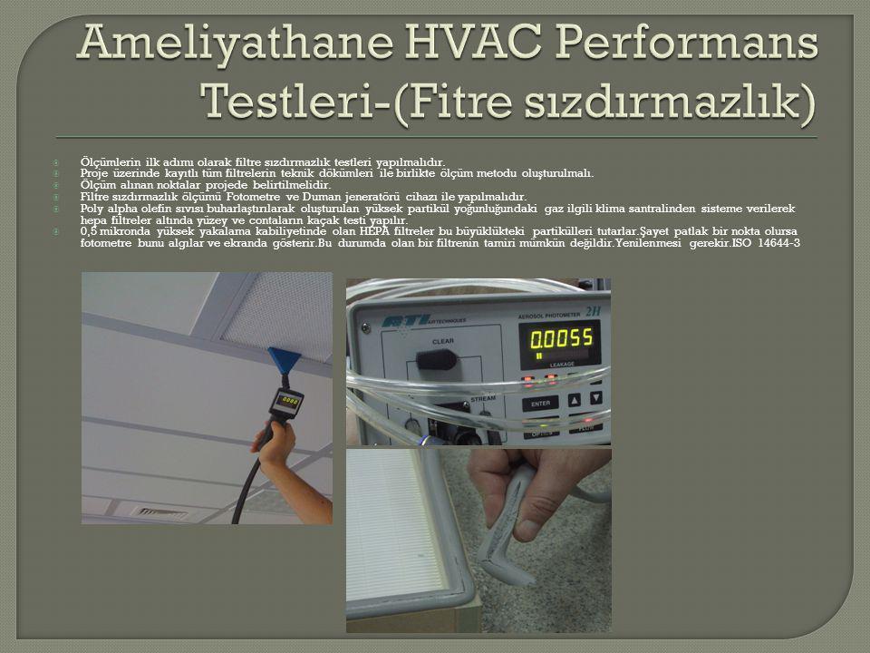 Ameliyathane HVAC Performans Testleri-(Fitre sızdırmazlık)