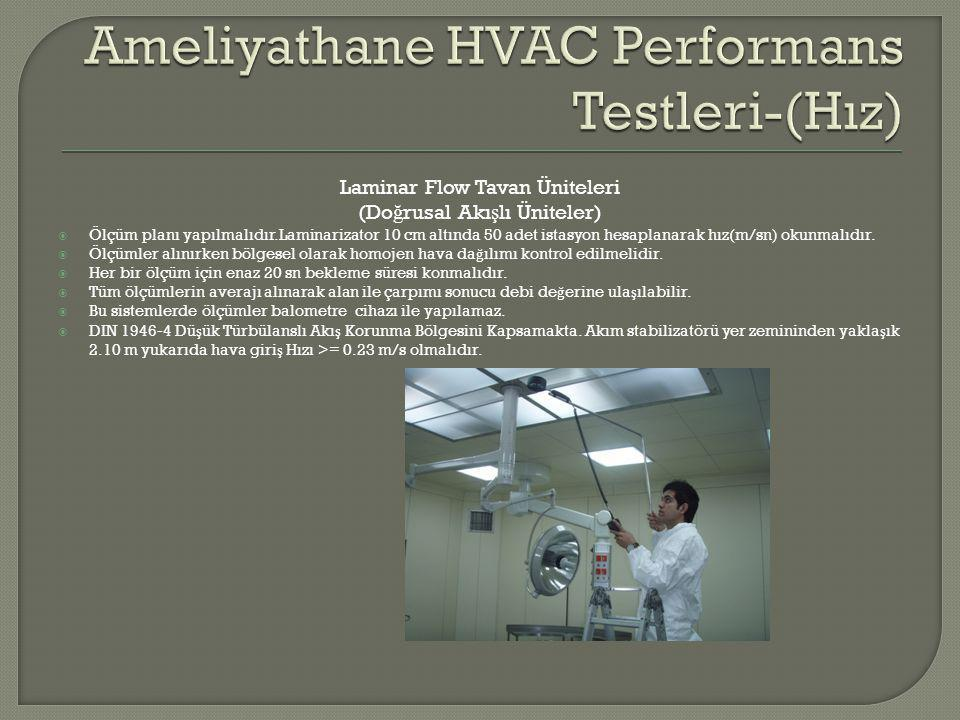 Ameliyathane HVAC Performans Testleri-(Hız)
