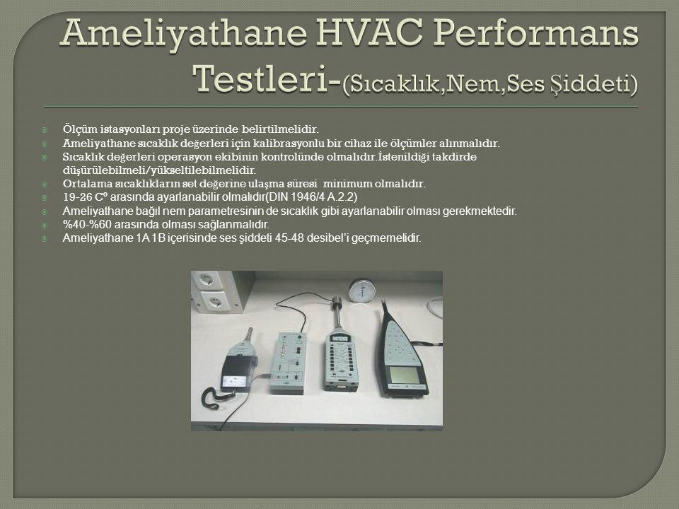Ameliyathane HVAC Performans Testleri-(Sıcaklık,Nem,Ses Şiddeti)
