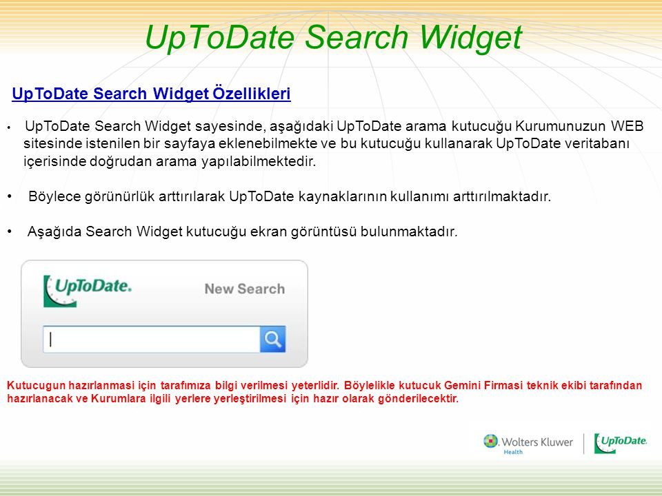 UpToDate Search Widget