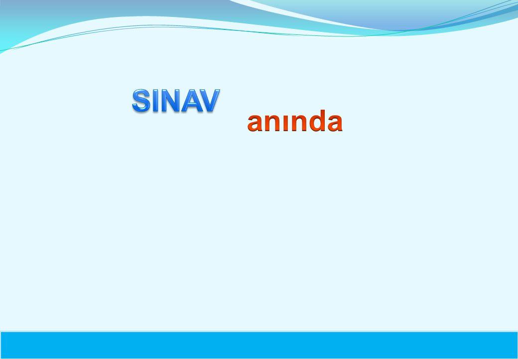 SINAV anında 12