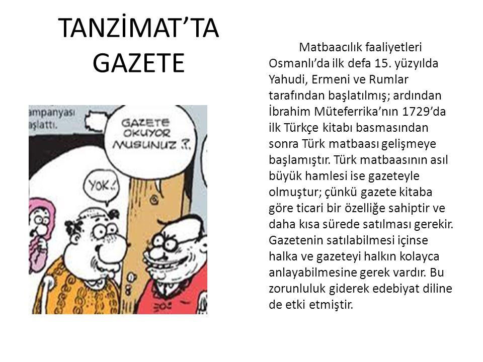 TANZİMAT'TA GAZETE