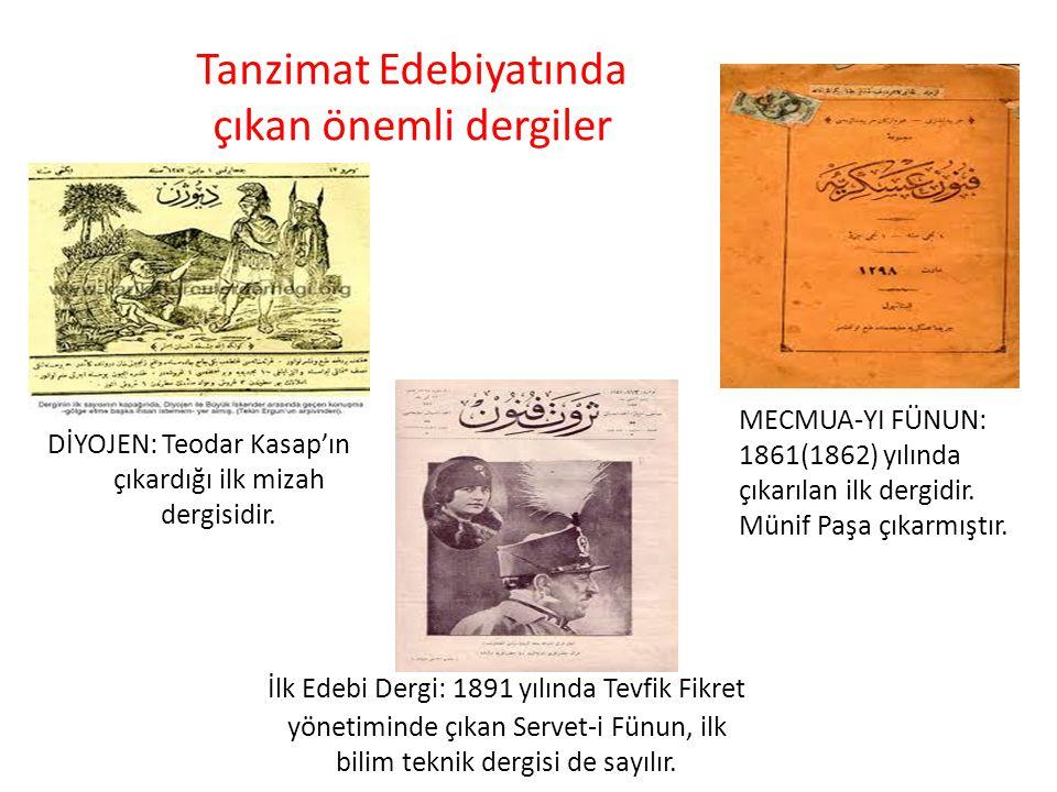 Tanzimat Edebiyatında çıkan önemli dergiler