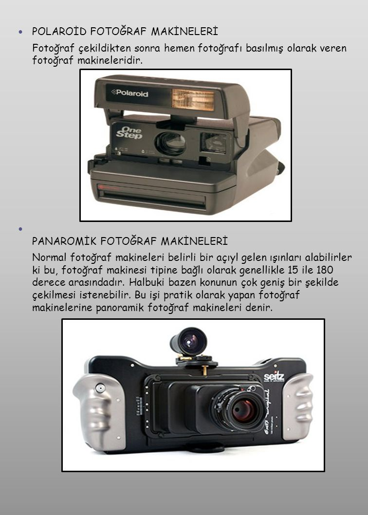POLAROİD FOTOĞRAF MAKİNELERİ