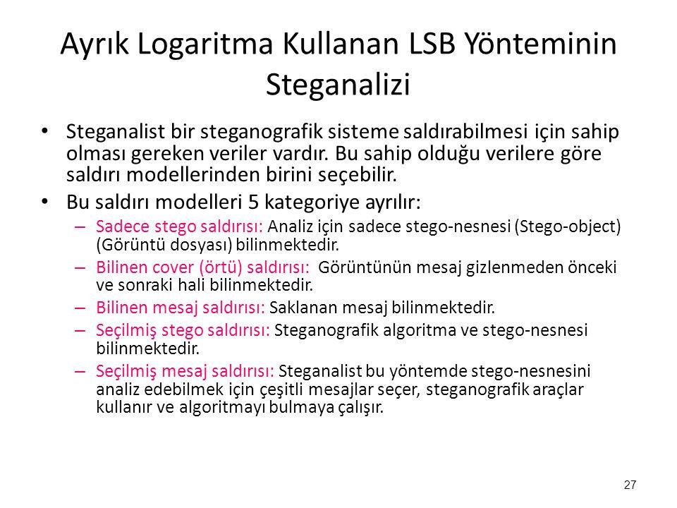 Ayrık Logaritma Kullanan LSB Yönteminin Steganalizi