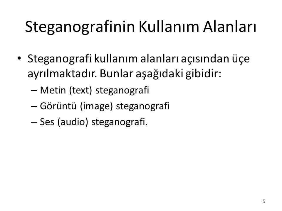 Steganografinin Kullanım Alanları