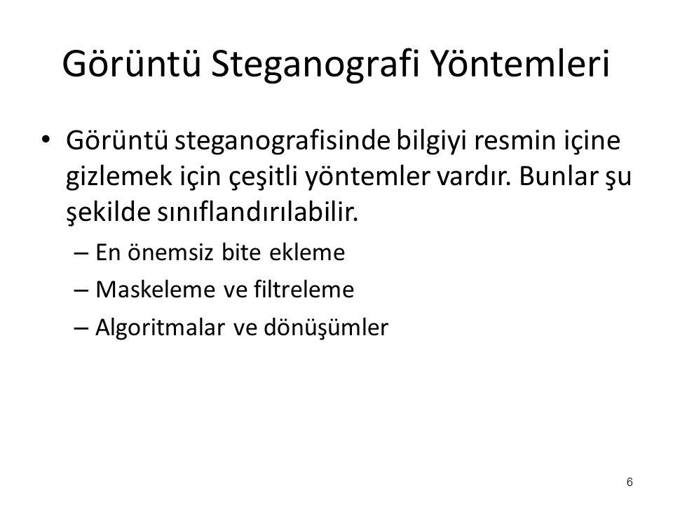 Görüntü Steganografi Yöntemleri