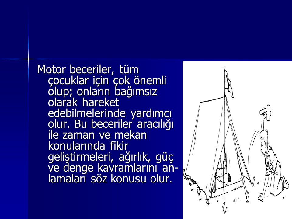 Motor beceriler, tüm çocuklar için çok önemli olup; onların bağımsız olarak hareket edebilmelerinde yardımcı olur.