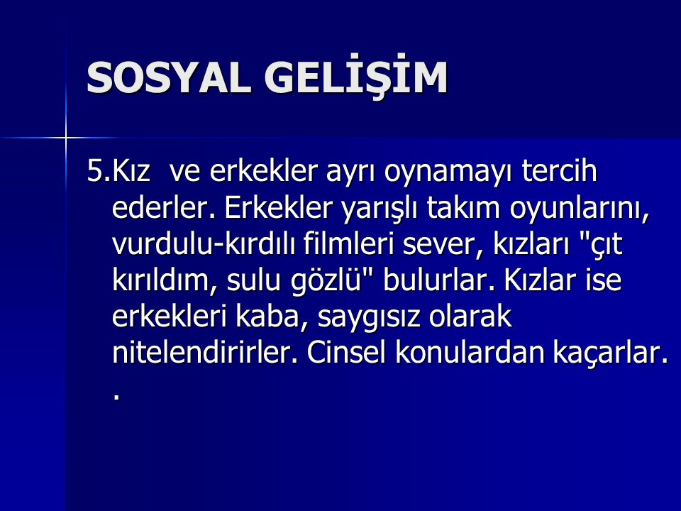 SOSYAL GELİŞİM