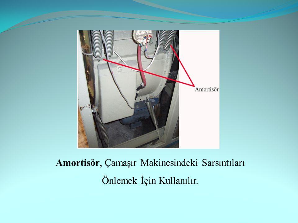 Amortisör, Çamaşır Makinesindeki Sarsıntıları Önlemek İçin Kullanılır.