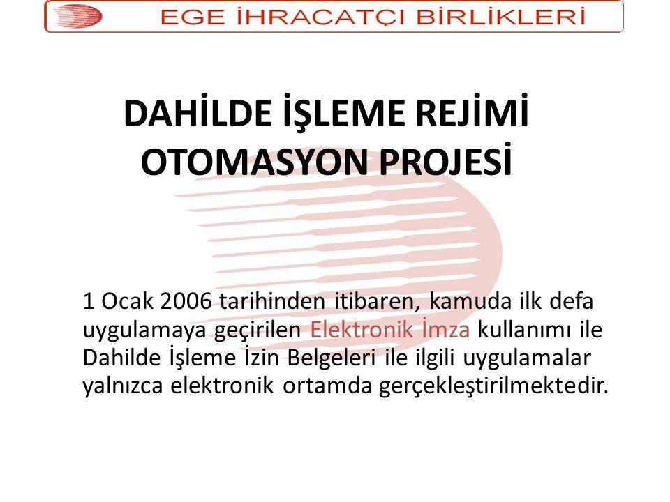 DAHİLDE İŞLEME REJİMİ OTOMASYON PROJESİ