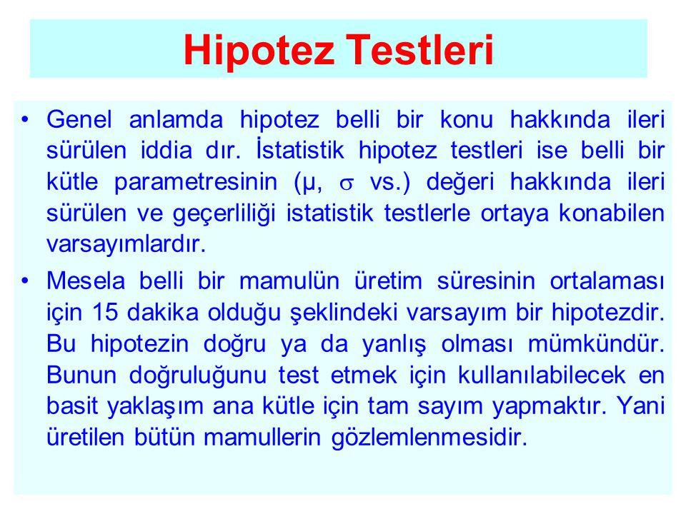 Hipotez Testleri