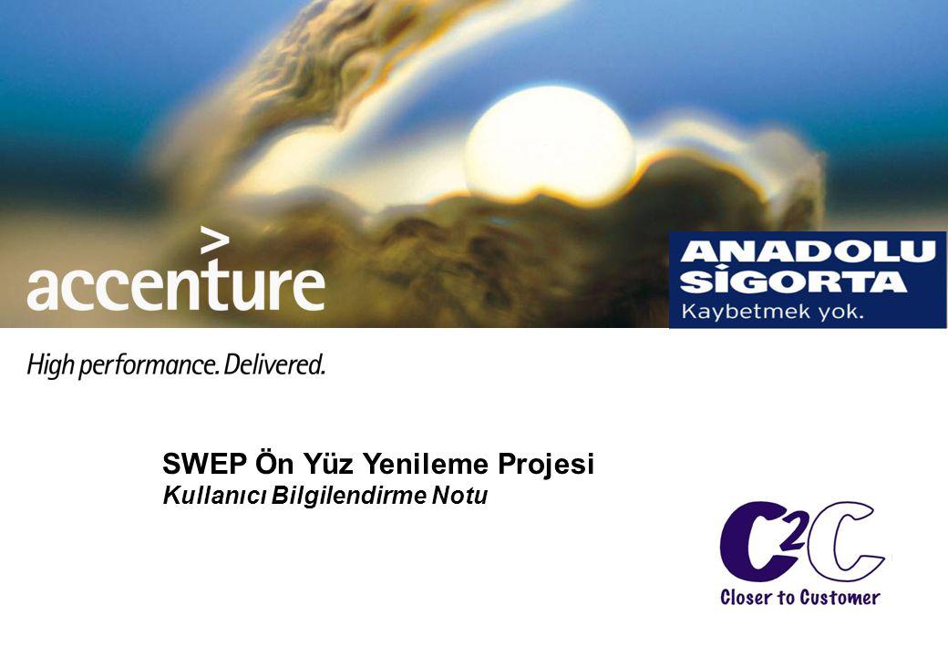 SWEP Ön Yüz Yenileme Projesi