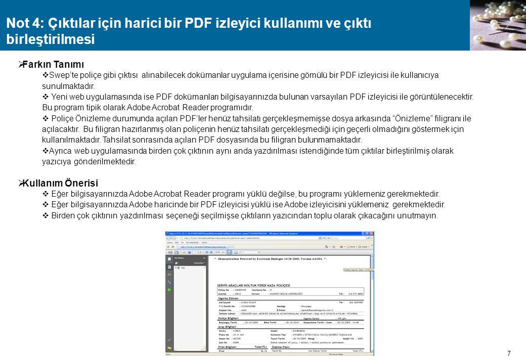Not 4: Çıktılar için harici bir PDF izleyici kullanımı ve çıktı birleştirilmesi