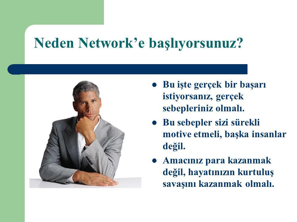 Neden Network'e başlıyorsunuz